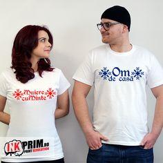 Tricouri cuplu cununie civila - Muiere cuminte si Om de casa Revolution, T Shirts For Women, Minions, Artsy, Tops, Gift, Fashion, Moda, The Minions