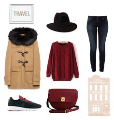 """suitcase"" by ainhoae on Polyvore featuring NIKE, Nudie Jeans Co., Zara, The Code, Penmayne of London and Dot & Bo"