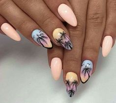 Lovely sunrise fresh summer nail ideas design that you can try