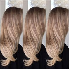 Well-mixed creamy toffee-blonde balayage for long hair - . - Well-mixed creamy toffee-blonde balayage for long hair – - Dark Blonde Balayage, Balayage Straight Hair, Straight Ponytail, Straight Bangs, Balayage Color, Straight Cut, Blonde Hair Looks, Dark Blonde Hair, Winter Blonde