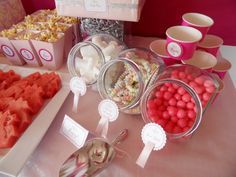 Pink Party treats to fill by girls on goodie bags