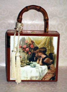 cigar box purses | Romantic Dinner Cigar Box Purse - Cigar Box Purses by Moments In Thyme