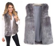 Kamizelka Futrzana Dluga Futerko Hit M L Xl Xxl 7064305793 Oficjalne Archiwum Allegro Fur Coat Coat Fashion