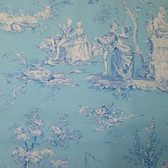 a beautiful antique French bleu toile