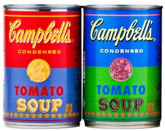 Campbell celebrating the 50 year anniversary of Andy Warhol's soup can pop art.  www.ampersanddesignstudio.com