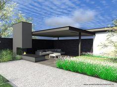Buiten 'living' tuinhuis modern