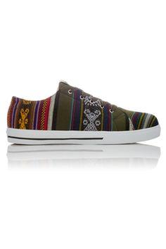 Oak Vegan Sneakers - Olive from Inkkas at StriveGreen