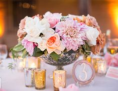 Coral and Peach Garden Wedding - Inspired By This
