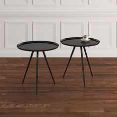 "$103 nesting tables 24 and 22"" h 22"" dia"