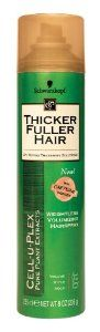 Thicker Fuller Hair Weightless Volumizing HairSpray-8 oz by Thicker Fuller Hair. $4.53. Provides flexible all day hold that's never stiff or sticky.. Controls style invisibly, combining lasting hold with touchable feel.. Hair has style and shape, movement and body.. Advanced Thickening Solutions For Thicker, Stronger Hair.With Cell-U-Plex® Pure Plant Extracts Fine limp thin hair  Volume Style Hold Deliver control with Volumizing Hair Spray. This weightless f...