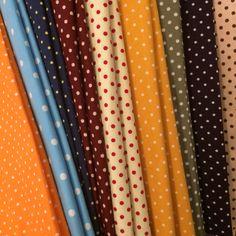 My cutie polka dots fabric