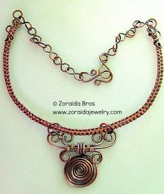 Copper Collar & Scroll Pendant Necklace   http://www.yourselfrepair.com/exterior/deck-railing-ideas/