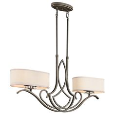 Buy the Kichler 42480OZ Olde Bronze Direct. Shop for the Kichler 42480OZ Olde Bronze Leighton Single-Tier Linear Chandelier with 4 Lights - Stem Included - 37 Inches Wide and save.