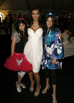Kim Kardashian with her youngest sisters Kylie Jenner and Kendall Jenner, 2007