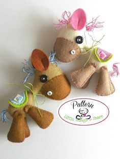 Horsy PDF sewing pattern-DIY-Felt Horse toy par LittleThingsToShare