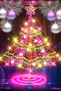 A rotating and sparkling pink Christmas tree! Animated Christmas Tree, Merry Christmas Gif, Christmas Scenes, Merry Christmas And Happy New Year, Christmas Love, Christmas Pictures, Beautiful Christmas, Winter Christmas, Vintage Christmas
