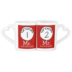 Groom 1 and Groom 2 Newly Weds Lovers Mug Sets