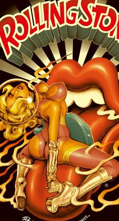 Poster for Rolling Stone Rock Posters, Band Posters, Music Posters, Pop Art, 3d Fantasy, Pin Up Art, Art Design, Jelly Beans, Erotic Art