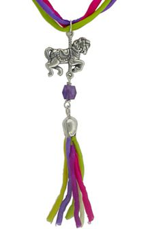 Create your own Fantasy Charm Necklace. Visit http://www.ninadesigns.com/jewelry_design_ideas/sterling_silver_carousel_horse_charm.html for Jewelry Charms & Supplies.