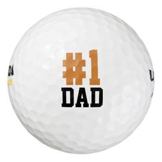 Number One Dad Father's Day Golf Balls Pack Of Golf Balls