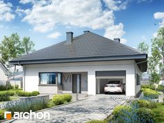 Projekt domu Dom w cieszyniankach 2 - ARCHON+ Gazebo, House Plans, Outdoor Structures, Outdoor Decor, Modern, Home Decor, Nice Houses, Facades, Architecture