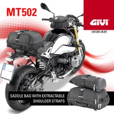 GIVI:  MT502: new GIVI SADDLE BAG with extractable shoulder straps, expandable, with a 30 ltrs capacity. Find out more!