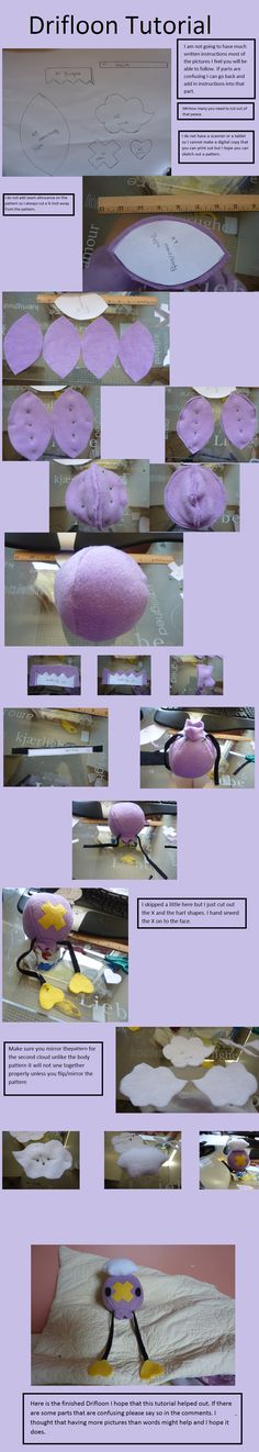 Pokemon Plush Tutorial | Drifloon Tutorial by Plush-Lore on deviantART