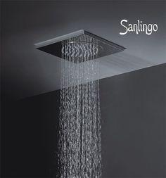 Edelstahl Decken Regendusche 270 x 270 x 15 mm Dusche für Deckenmontage Sanlingo