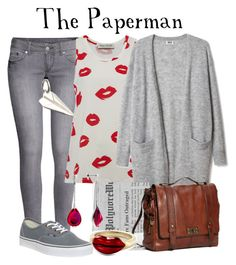 """""""The Paperman // Disney Pixar"""" by glitterbug152 ❤ liked on Polyvore featuring mode, H&M, Être Cécile, Lily Charmed, FOSSIL, Alison Lou, Vans, Baccarat, disney et disneybound"""