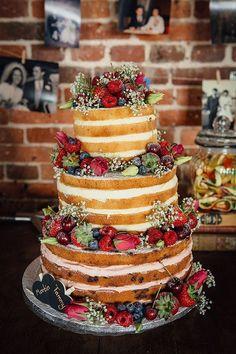 Resultado de imagem para naked cake casamento