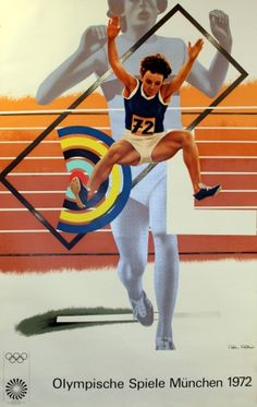 """New blog article """"Summer of Sport 2012: The Olympic Games"""" posted at http://antikbarposters.wordpress.com/ - a short online exhibition of original vintage posters listed at www.AntikBar.co.uk (featured image: Munich Olympics Athletics 1972 designed by Peter Phillips - http://www.antikbar.co.uk/product_detail/?pId=1295)"""