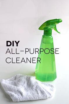 DIY All Purpose Cleaner - only 2 ingredients + water! So easy!