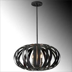 Woodstock pendants are contemporary oval metal cage fittings in a textured black finish with contrasting brushed steel candle tubes and holders to soften the look.This is the larger of the two pendants available. Stair Lighting, Lighting Online, Woodstock, Cage, Stairs, Chandelier, Pendants, Indoor, Ceiling Lights