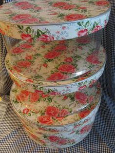 Vintage Clear Sided Hat Boxes Set by trackerjax on Etsy