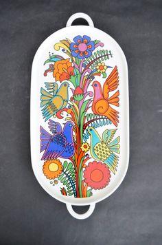 Villeroy & Boch Acapulco Vtg Mid Century Modern Serving Tray Platter