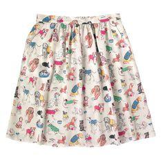 Dogs Viscose Twill Skirt | Skirts | CathKidston