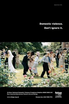 England - This awareness raising campaign used advertisements as a metaphor for the way in which society continues to hide, excuse and ignore Domestic Violence - / Violencia de Género - Stop Violence Against Women
