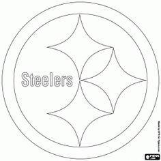 Football Helmet Steelers Pittsburgh Coloring Page NFL