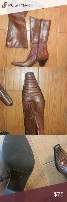 Cathy jean cowgirl boots size 7m This boots are made in Brazil from Cathy jean these cowgirl style boots are basically new very cute 2 inch thick heek midcalf Cathy Jean Shoes Heeled Boots