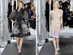 sheer dresses and coat dresses by Dior for Spring 2012 Couture | Paris Haute Couture