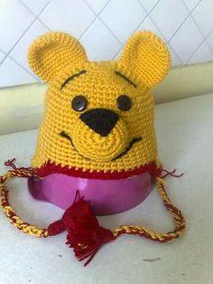 cilld crochet winnie the pooh beanie
