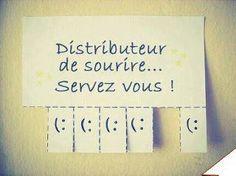 Distributeur de sourire...  www.tdah.be power patate/ optimisme