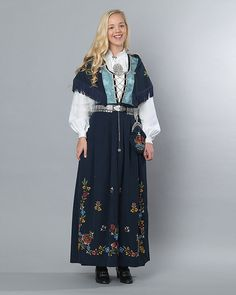 Folk Costume, Costumes, Medieval Dress, Traditional Dresses, Norway, Vest, Beauty, Nature, Fashion