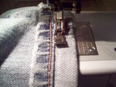 The Not-So-Nerdy Way to Hem Jeans:  Have you ever wanted to hem jeans just like the Buckle?  Here's how to use the original hem and avoid a home-sewn look.