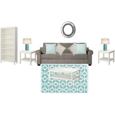 living room, created by love4design on Polyvore