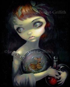 Microcosm Fawn alchemist deer fairy art by Jasmine Becket-Griffith