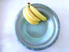 ceramic fruit bowl / blue ceramic wedding gift / by GattiShop