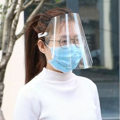Protective Face Shield Clear Visor Flip Up Transparent Mask Anti Splash Elastic Band Full Face Cover for Workshop Cooking Cleaning Sales Online transparent - Tomtop Head Shapes, Face Shapes, Safety Mask, Clear Face, Protective Mask, Critical Period, Eye Protection, Elastic Headbands, Full Face
