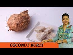 COCONUT BURFI - Mrs Vahchef - YouTube