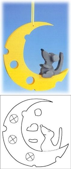 wooden moon cutout pattern for garden - Jan Joseph - SiePin Cnc Projects, Wooden Projects, Wooden Crafts, Woodworking Projects, Diy And Crafts, Scroll Saw Patterns, Wood Patterns, Animal Cutouts, Making Wooden Toys